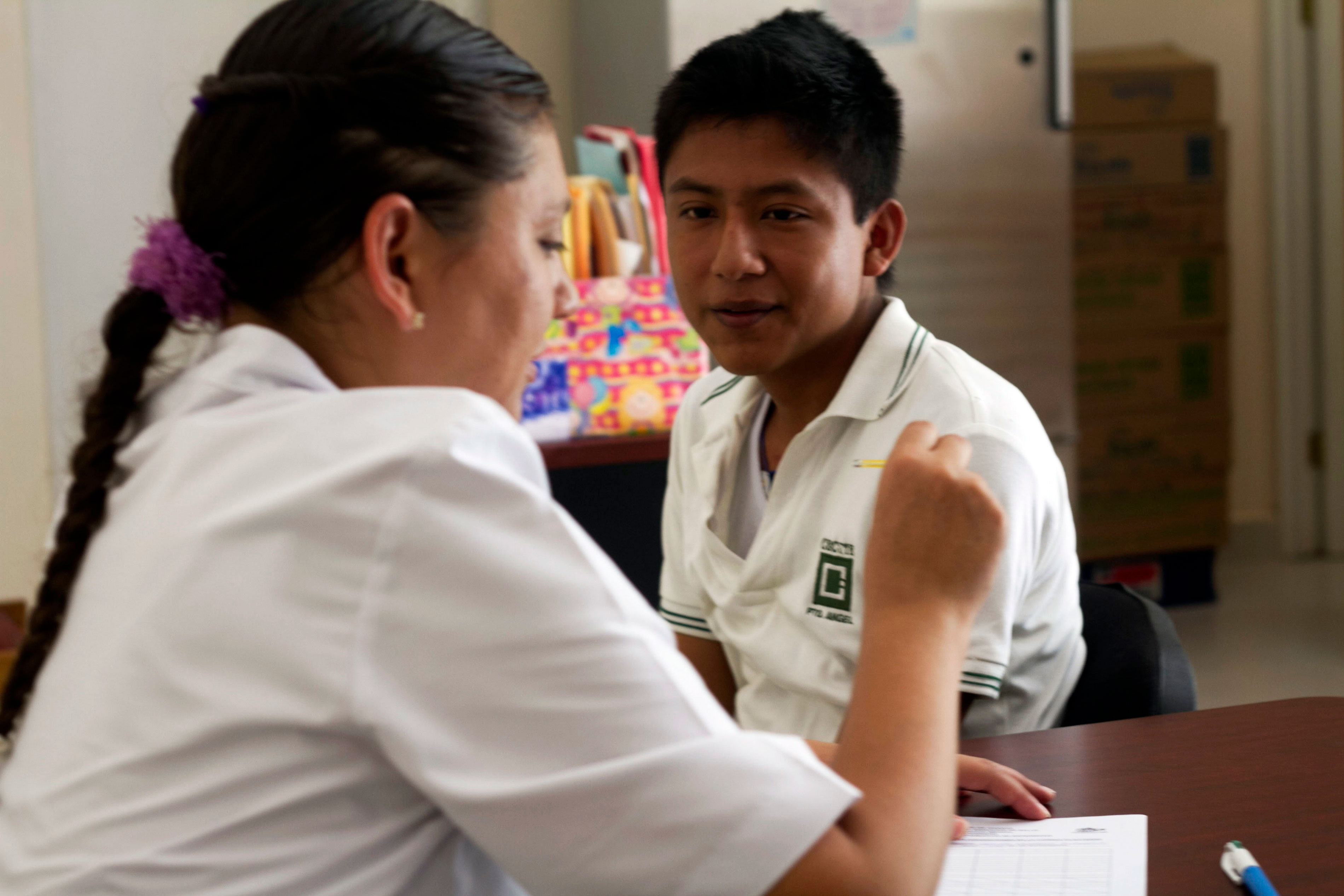 Ubaldo Mendoza, 18, has initiated Chagas treatment in San Pedro Pochutlas health facility.