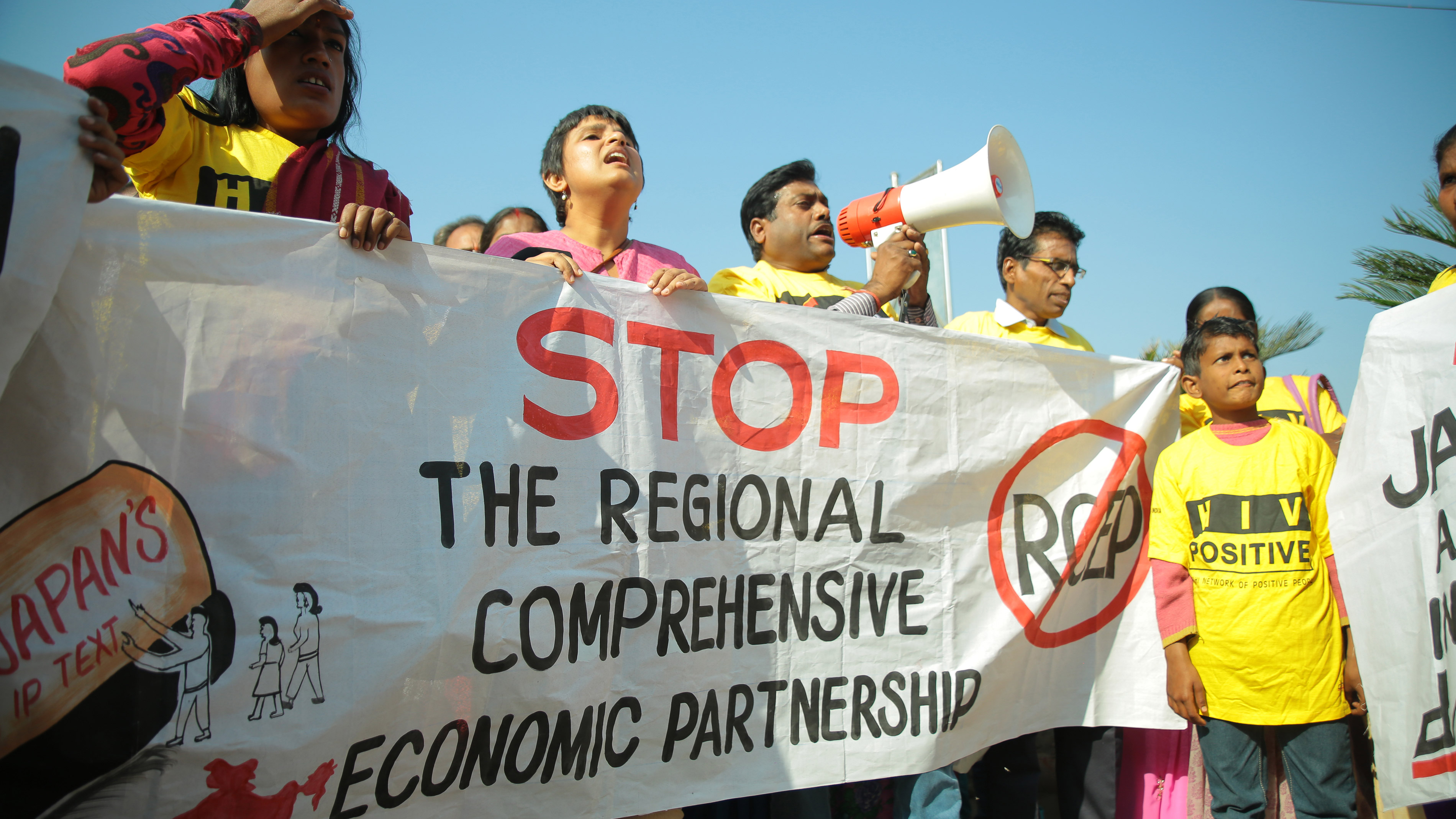 Civil society demonstration against IP provisions in RCEP that can block access to affordable medicines during the 6th round of negotiations. 3rd December 2014