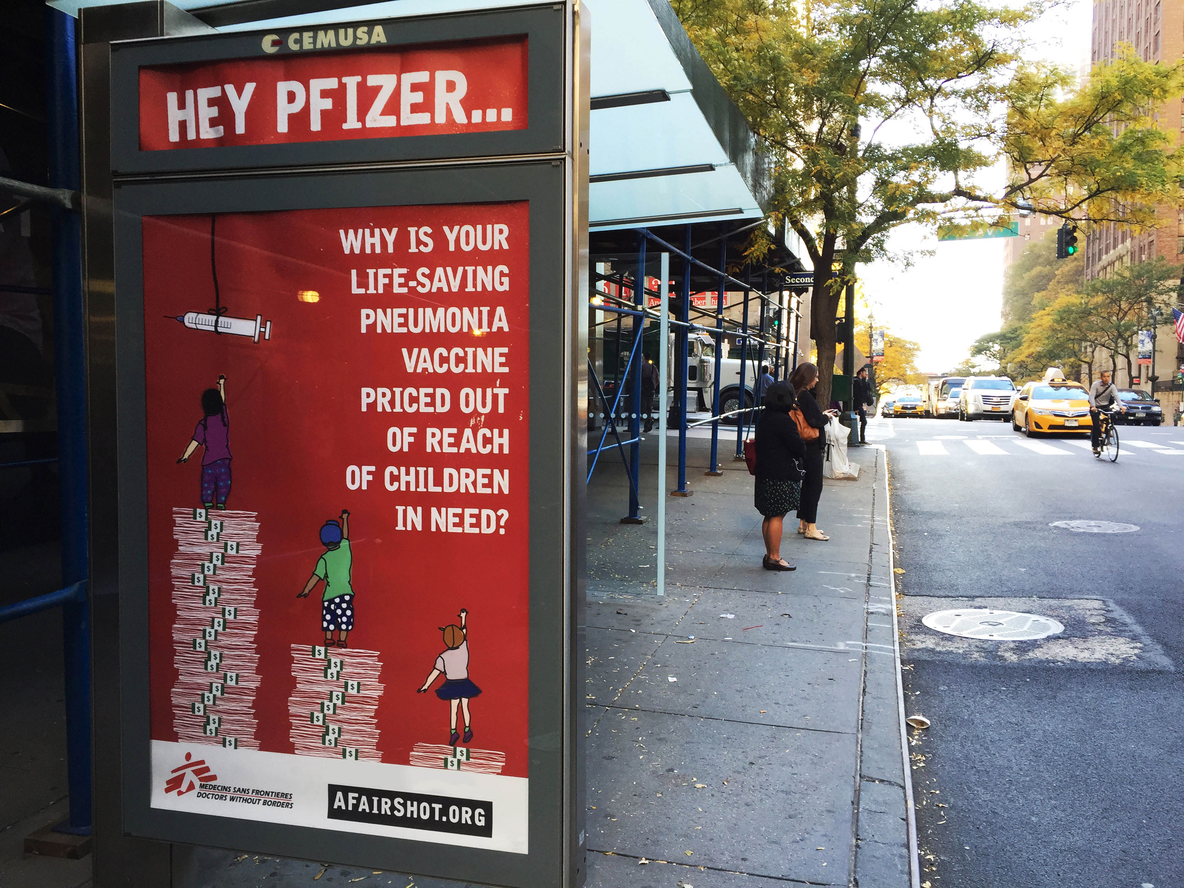 Campaign asking Pfizer & GSK to drop the prices of pneumonia vaccines down to 5$/child
