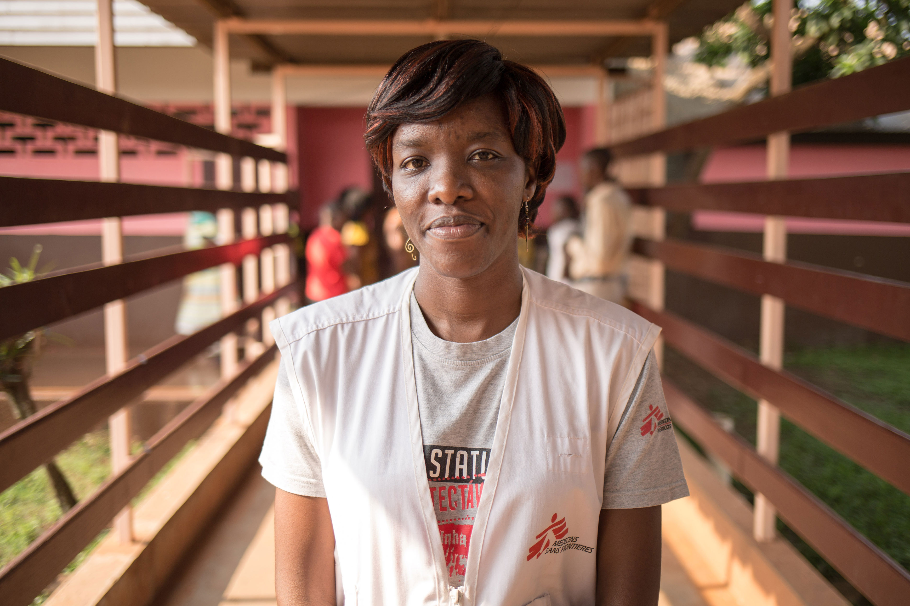 Dr. Christine BIMANSHA MBOMBO, MSF Medical Activity Manager of the HIV/AIDS program in the Hôpital communautaire of Bangui. 09 July 2016 - Hôpital communautaire, Bangui, Central African Republic.