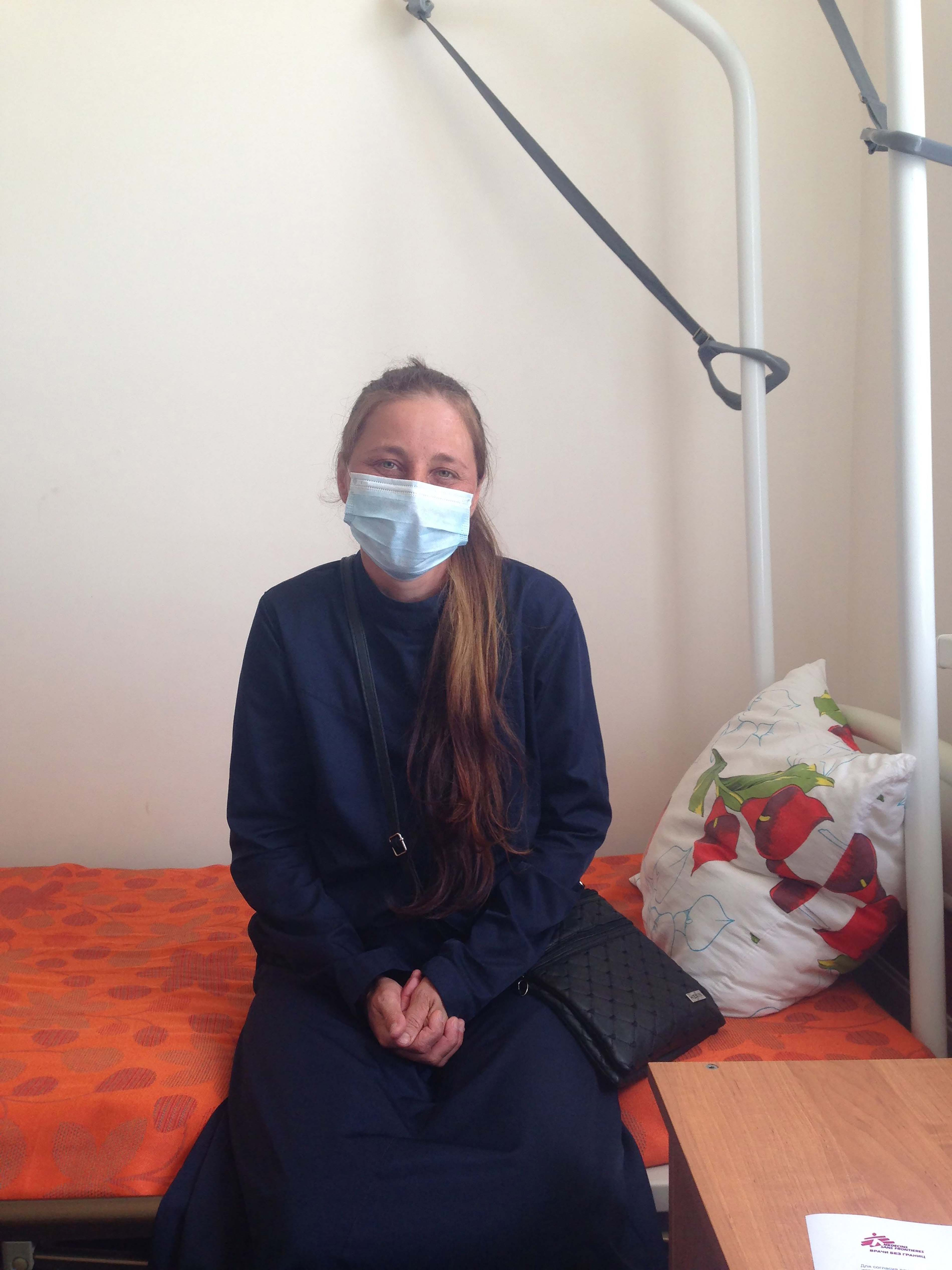 35-year old Elena is receiving treatment for XDR-TB in Grozny. She is one of 51 patients MSF is caring for, with a new combination of drugs that have never been used in the country before.