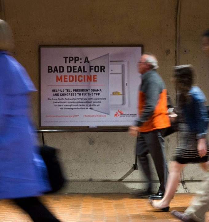 Metro advertisements for Doctors Without Borders, photos by Drew Angerer