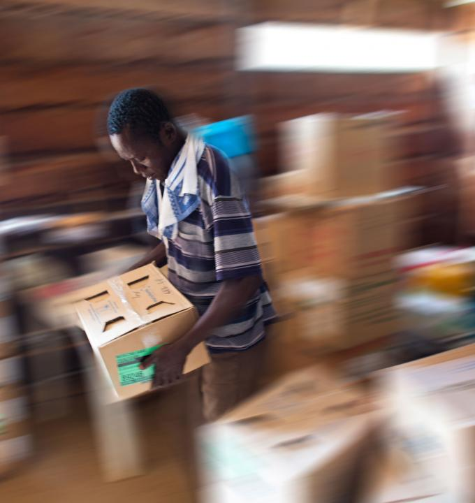 Pharmacy at Batangafo hospital, Central African Republic 2013.