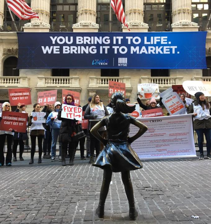 MSF protests at Wall Street after J&J announces 2019 sales increase
