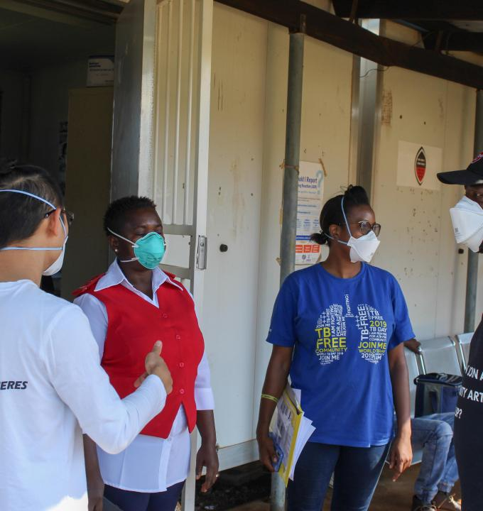 MSF medical team in Matsenjeni health centre