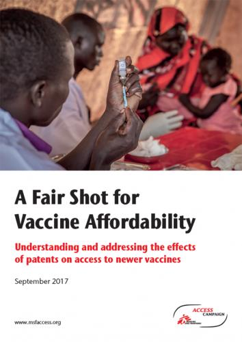 Report cover: A Fair Shot for Vaccine Affordability
