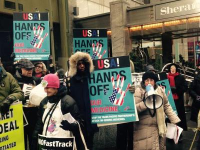 TPP demonstration in New York City, USA