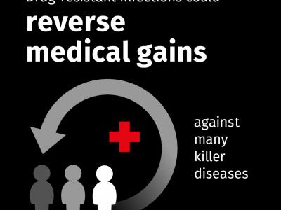 Drug-resistant infections kill an estimated 700,000 people every year