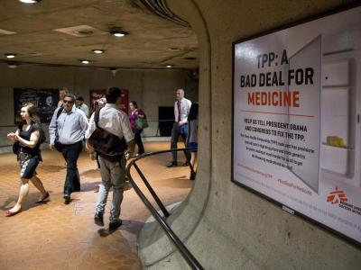 Metro advertisements for Doctors Without Borders, 2015.