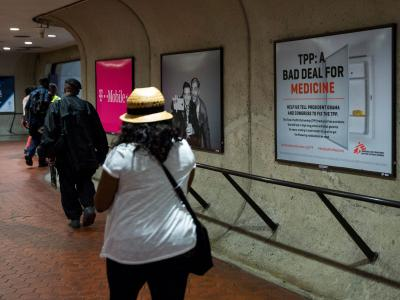 Metro advertisements for Doctors Without Borders