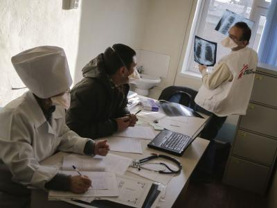 MSF operating in a district of Kyrgyzstan where TB rates are among the highest in the country. January 2015