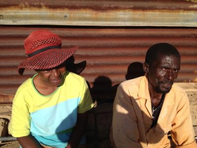 48-year old Linda Vilakati is one of 55 patients who have just successfully completed treatment for MDR-TB in Swaziland. Linda is sitting with his former treatment supporter, Nonhlanhla Zikalala, who helped see him through his recovery.