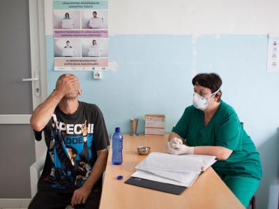 A nurse at work at Zugdidi regional TB hospital, in Georgia's Samegrelo region, where MSF first started working in 2006.