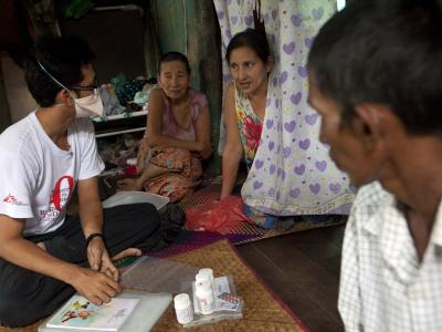 Mother of Ko Ye Win, 41, HIV/TB+. He worked as a fisherman in Thailand.