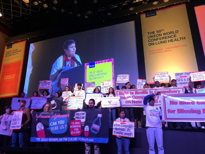 MSF and TB activists disrupt opening of TB conference to protest drug corporations keeping life-saving medicines from people