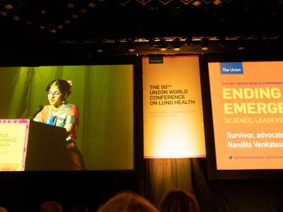 Nandita's Venkatesan speech at the 50th Union World Conference on Lung Health